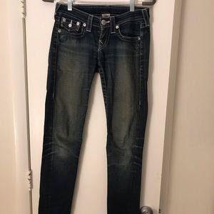 True Religion Flap Pocket Julie Jeans - Size 26